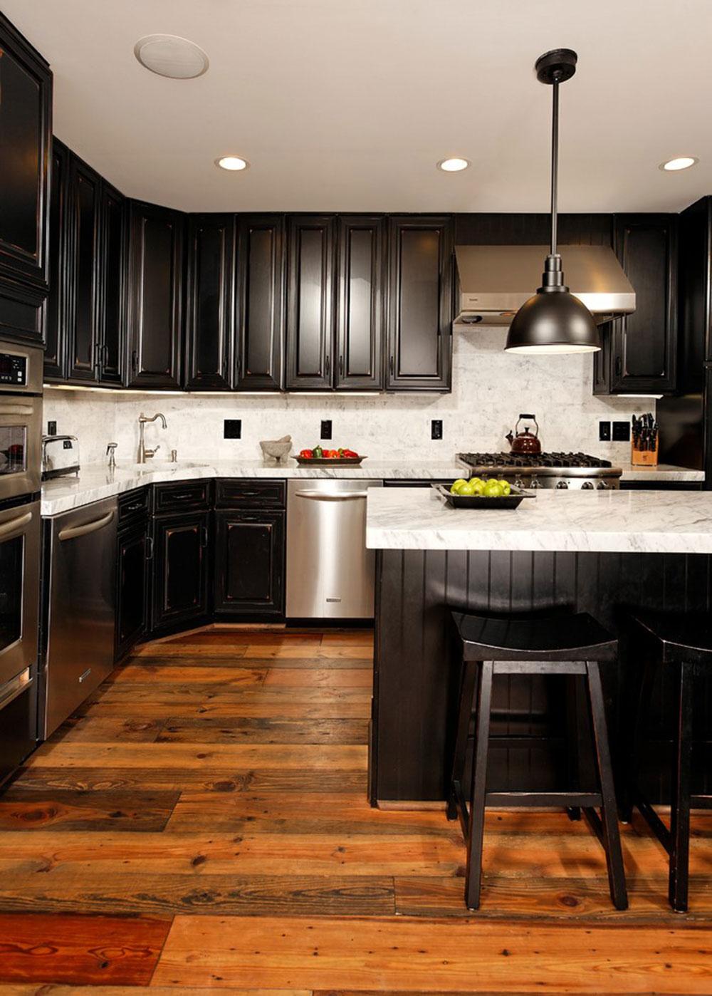 Kök med svarta skåp-kan-fortfarande-vara-ljus9 Kök med svarta skåp - bilder och idéer