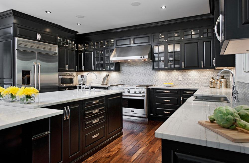 Kök med svarta skåp-kan-fortfarande-vara-ljus5 Kök med svarta skåp - bilder och idéer