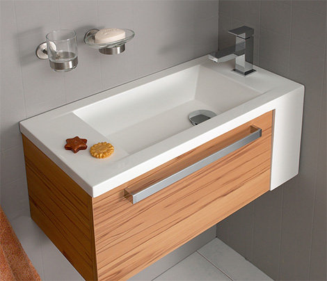 Oasis Compact Bath Vanity från Pelipal för små badrum