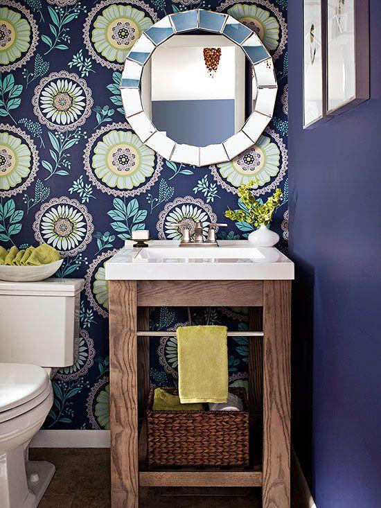 Små idéer om fåfänga för badrum |  Vackra badrum |  Litet badrum