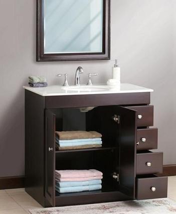 Små badrumslösningar: Förvaring av smarta badrumsfönster  Badrum