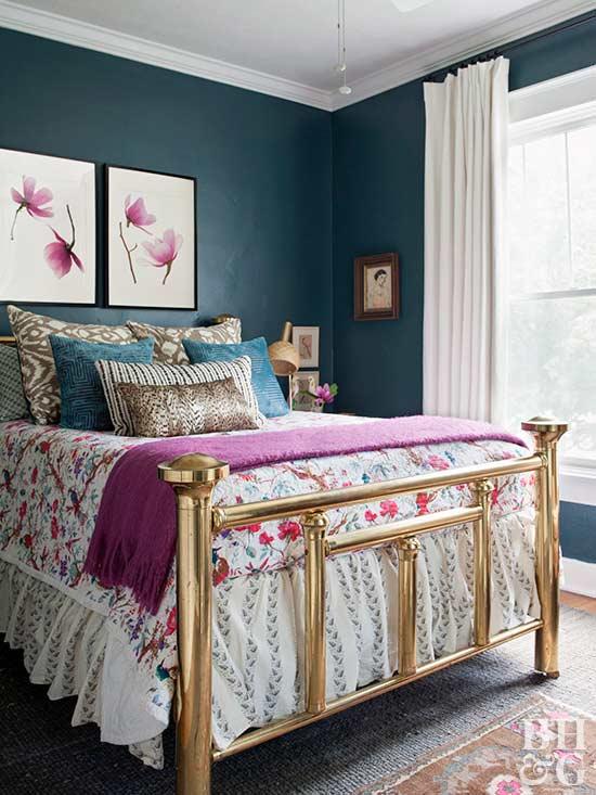 Jewel-Tone sovrum färgfärger