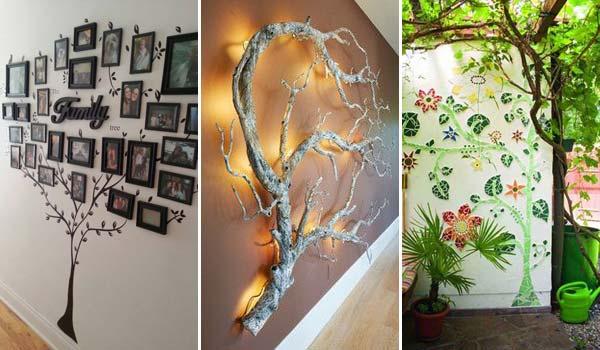 30 fantastiska idéer för att dekorera väggträd som kommer att inspirera dig