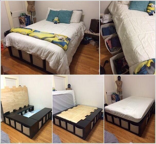 15 smarta förvaringsidéer för ett litet sovrum