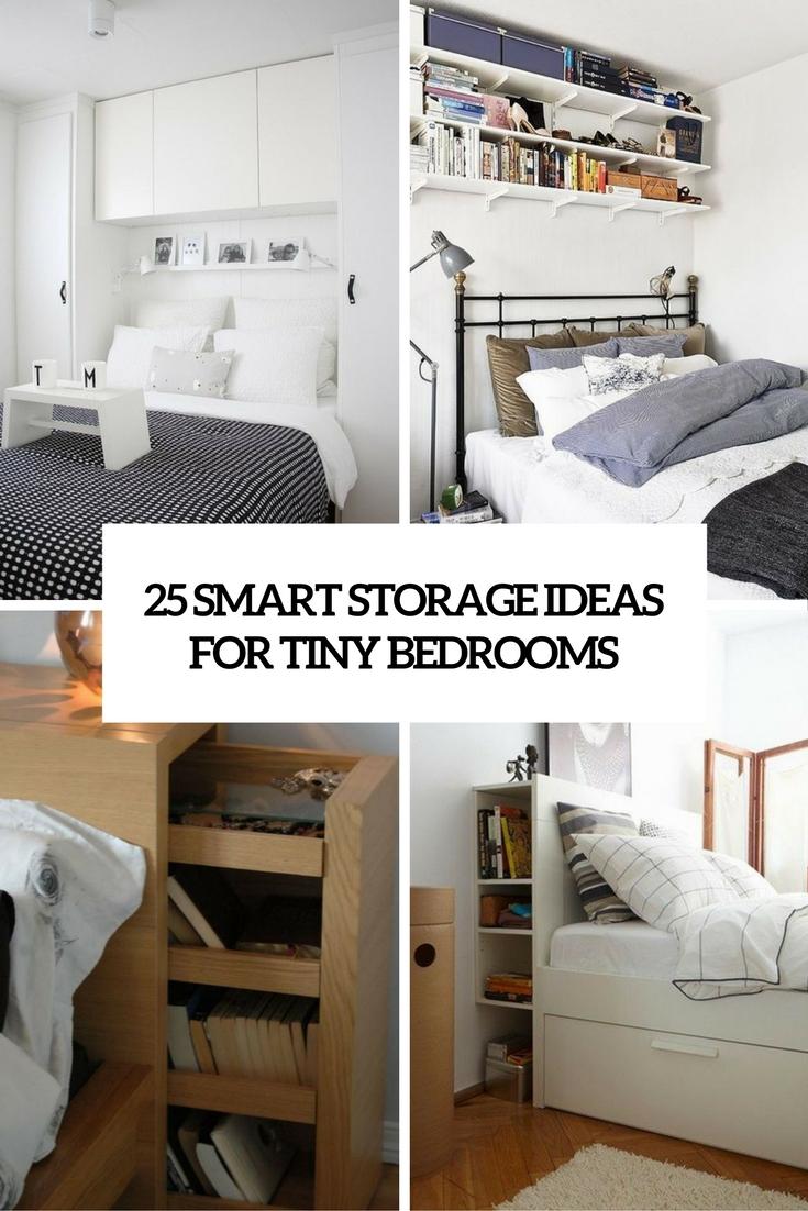 smarta lagringsidéer för små sovrumsöverdrag