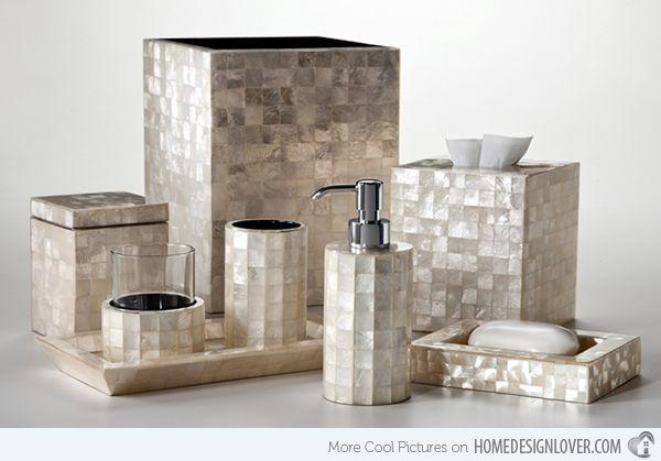 15 Trendiga moderna badrumstillbehörsset