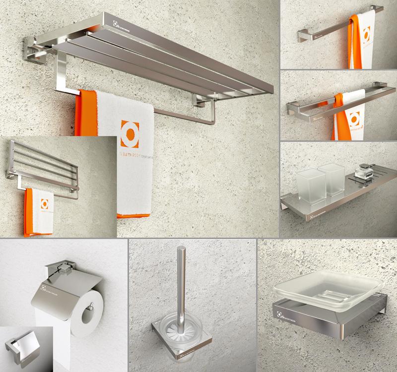 Sandblästring Moderna badrumsuppsättningar för badrum Spray Aluminium Massiva polerade tillbehör 7 artiklar Badprodukter Produkter Victor A-in Badvaruuppsättningar hemifrån