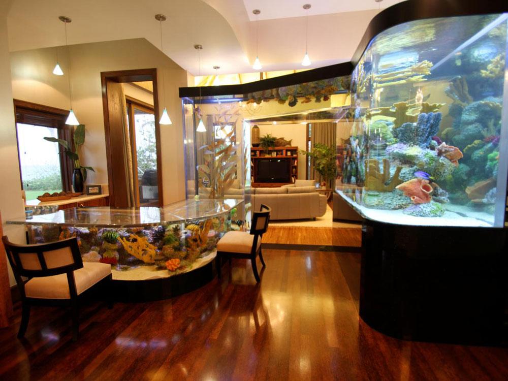 Ändra utseendet på ditt rum med denna akvarietank 7 Ändra utseendet på ditt rum med dessa akvarietankar