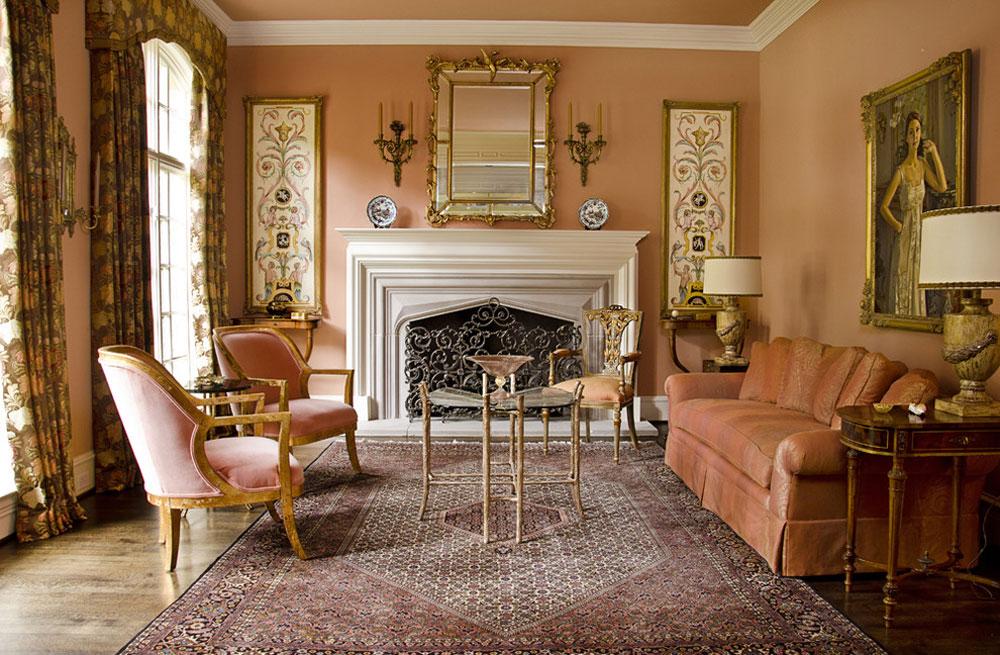 Living Room-by-Canon-Dean Använd persikafärgen för att dekorera fantastiska interiörer