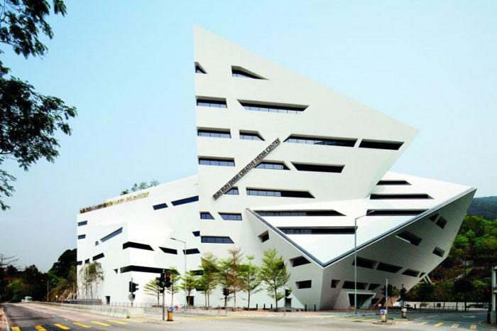 69682743612 Arkitektur: byggnader med skarpa vinklar