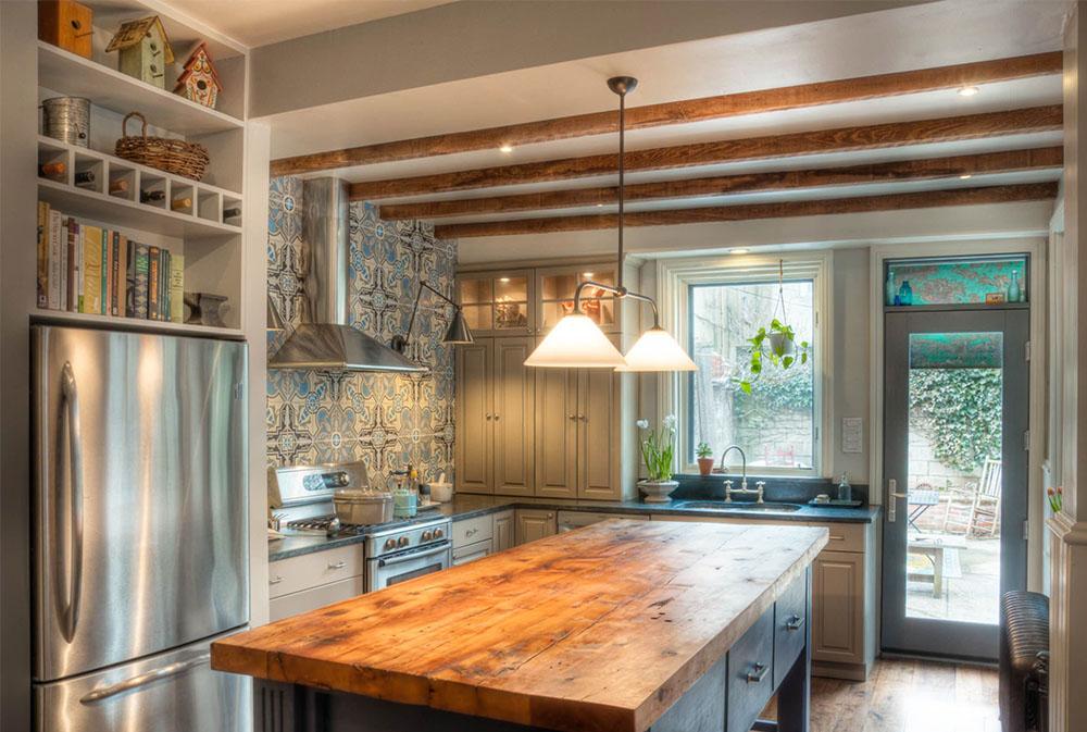 Kitchen-Backsplash-by-Buckminster-Green-Wood-Countertops: Massiva, rustika, naturliga köksbänkar