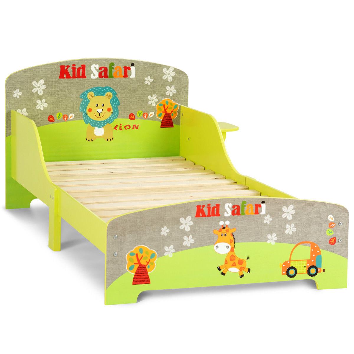 Goplus Kids Toddler Bed MDF Children Bedroom Boys and Girls Färgglada möbler Ny 0