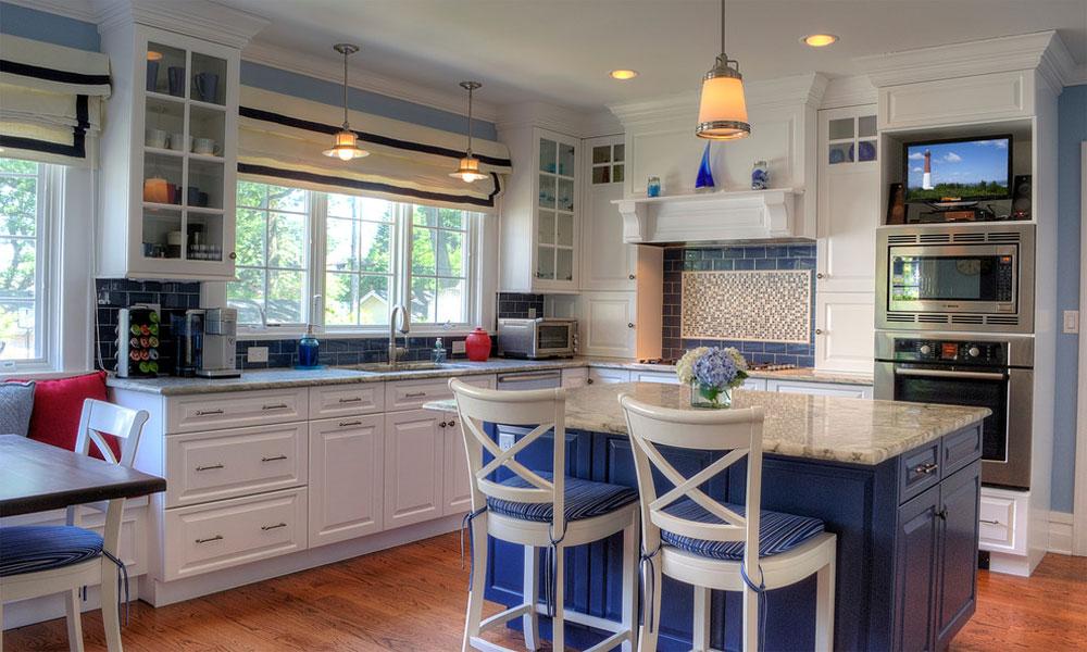 Blue-Kitchen-by-Showcase-Kitchen-Bath Blue köksidéer: skåp, väggar och diskar