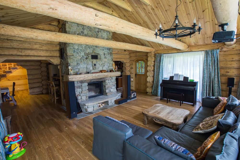 Vardagsrum med falskt tak