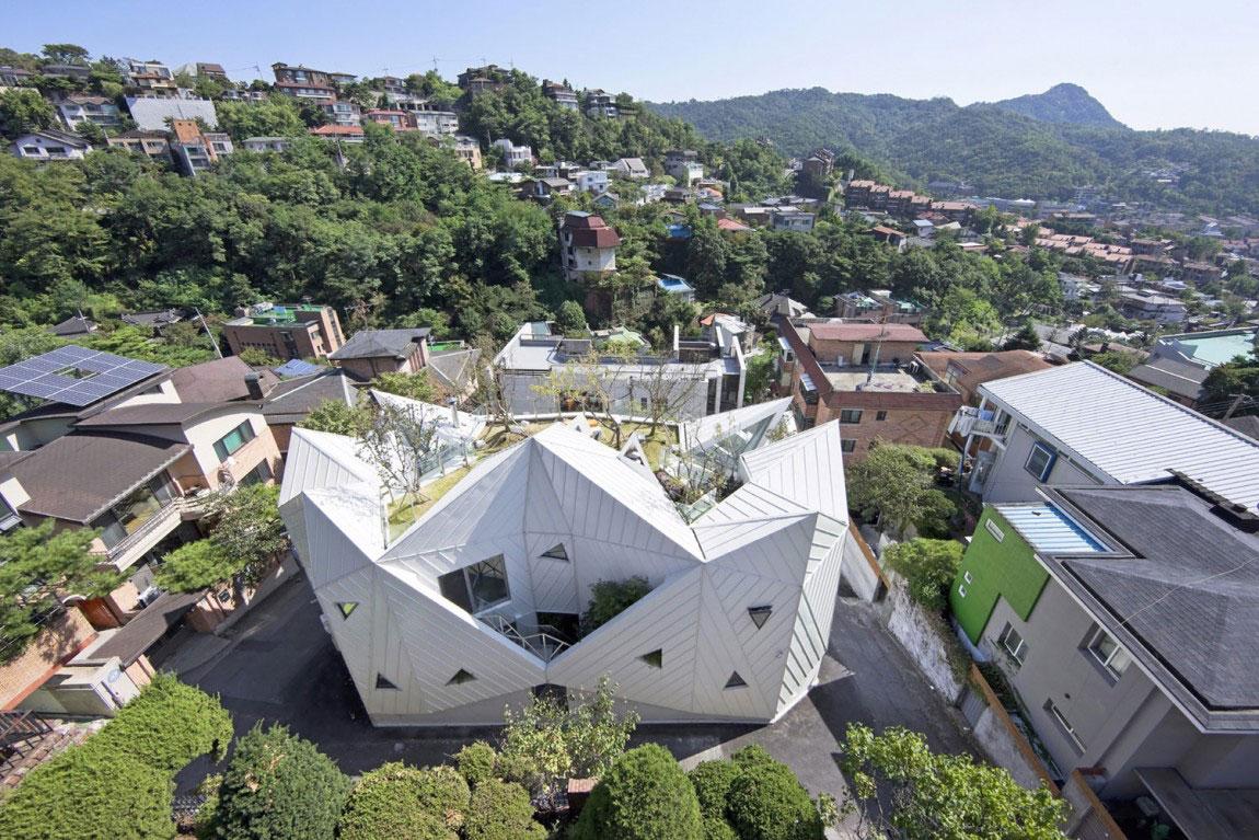 Det moderna Hwa Hun-huset, designat av IROJE-KHM-Architekten-1 Det moderna Hwa Hun-huset, designat av IROJE KHM Architects
