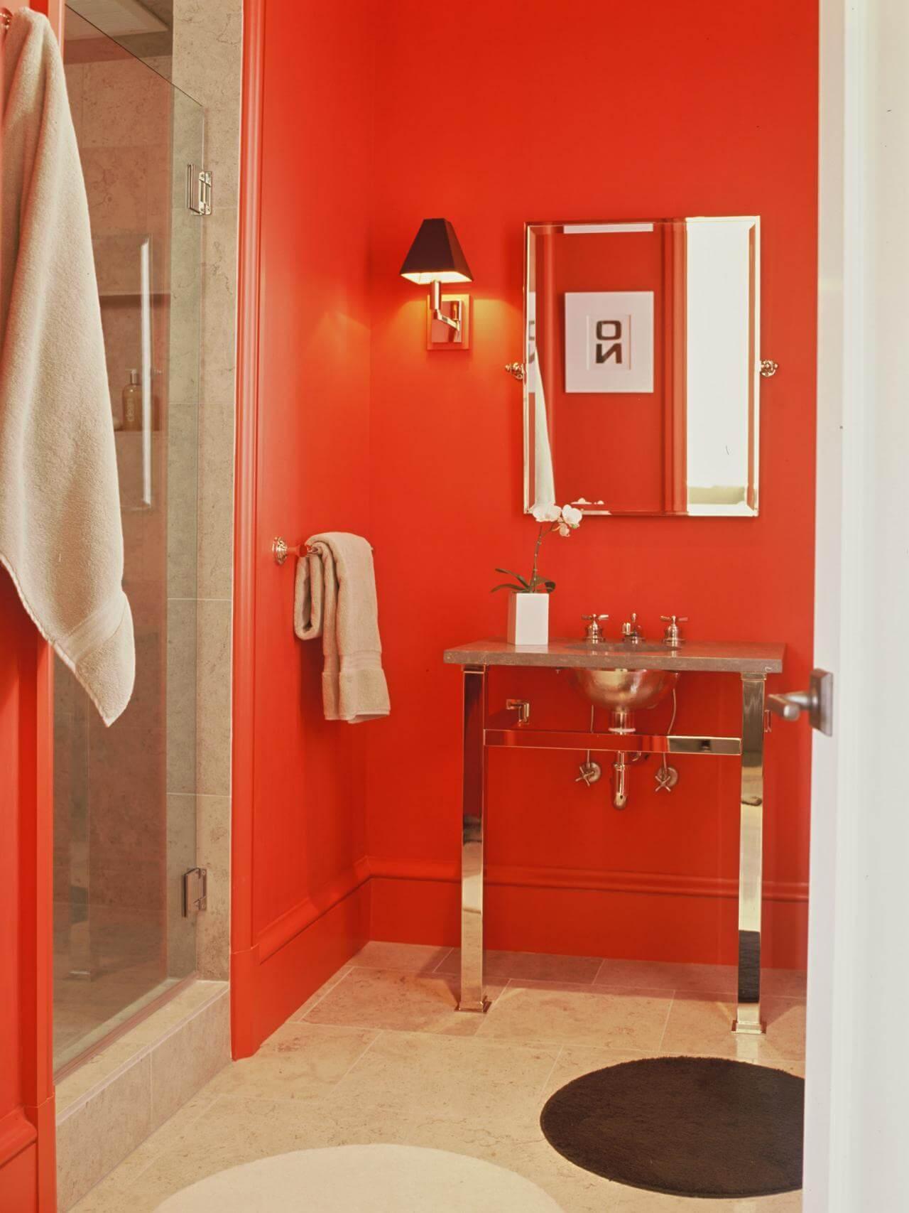 Graciösa röda badrum