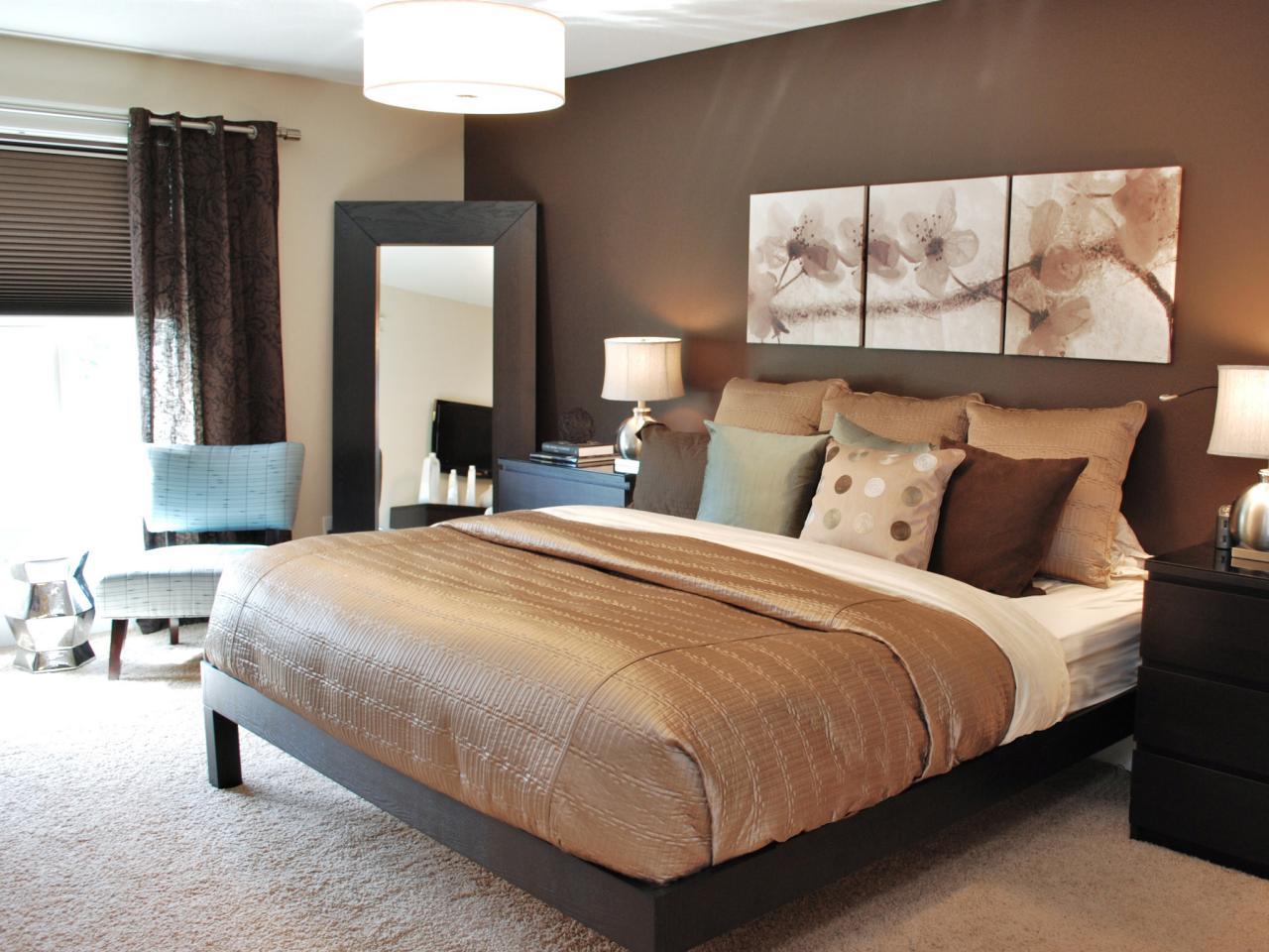 Elegant brunt sovrum