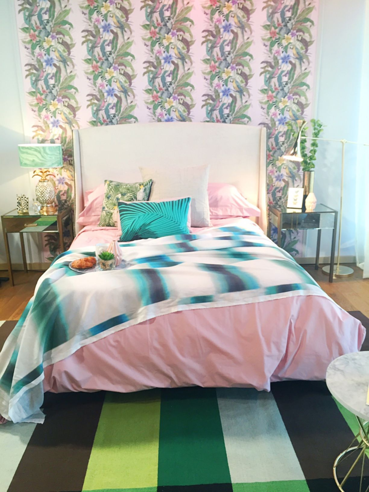 Tropical Fixer Upper Bedroom