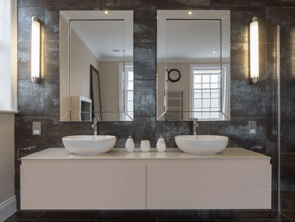 Double Mirror Granite Badrum Enkla idéer för att uppdatera ditt badrum