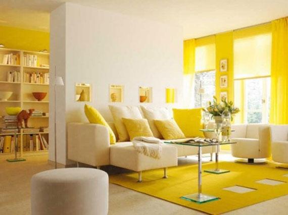 y1 Exempel på rum designade och dekorerade med gult