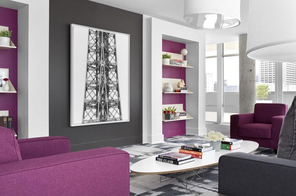 Sky - @ - MidCity-Lofts av Niki-Papadopoulos Färgen på lavendel och färgerna som passar till lavendel