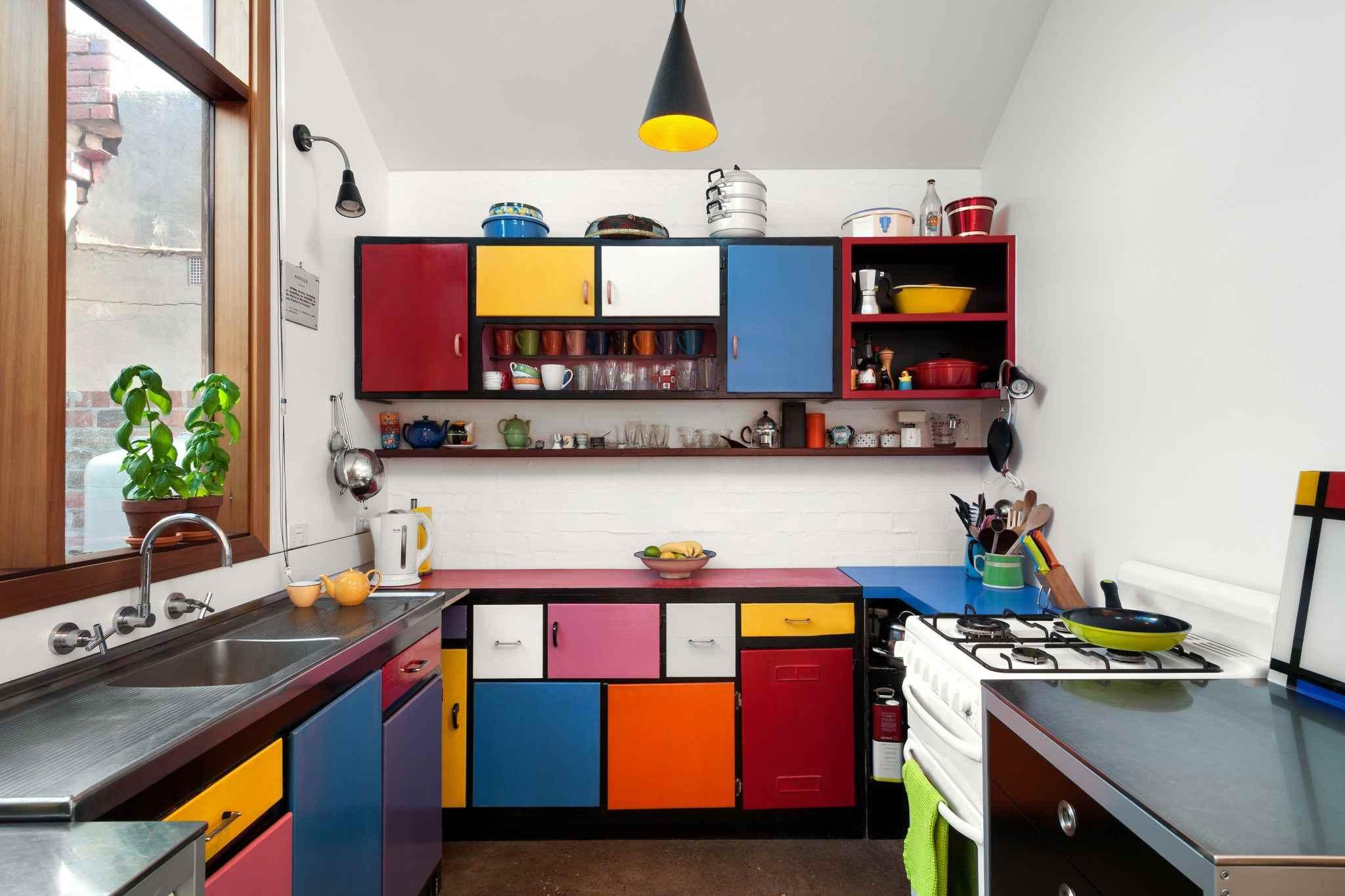 Underbart färgstarkt kök