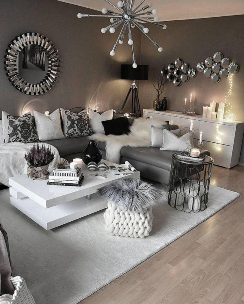 Modernt glamoröst vardagsrum