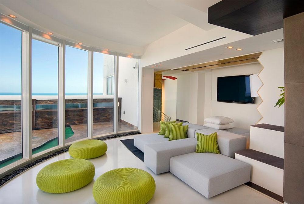 Media-rum-på-tak-av-David-De-La-Garza-ZURDODGS golvkuddar: underbara tillbehör till ditt vardagsrum