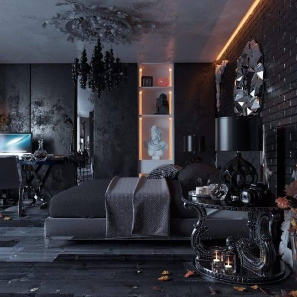 Fantastiskt gotiskt sovrum
