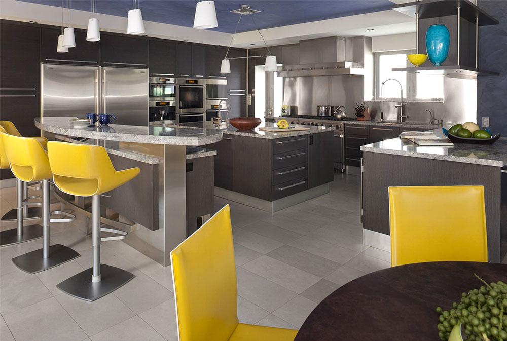 Hem-2-by-Architectural-Design-Consultants Gult kök: dekorativa mattor, tillbehör och idéer