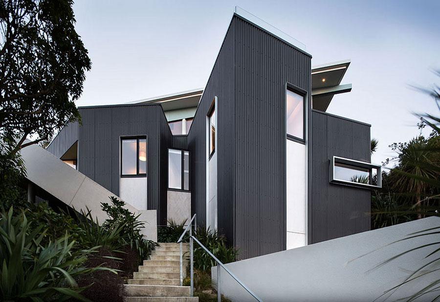 1 hus i Nya Zeeland med modern design och fantastisk utsikt