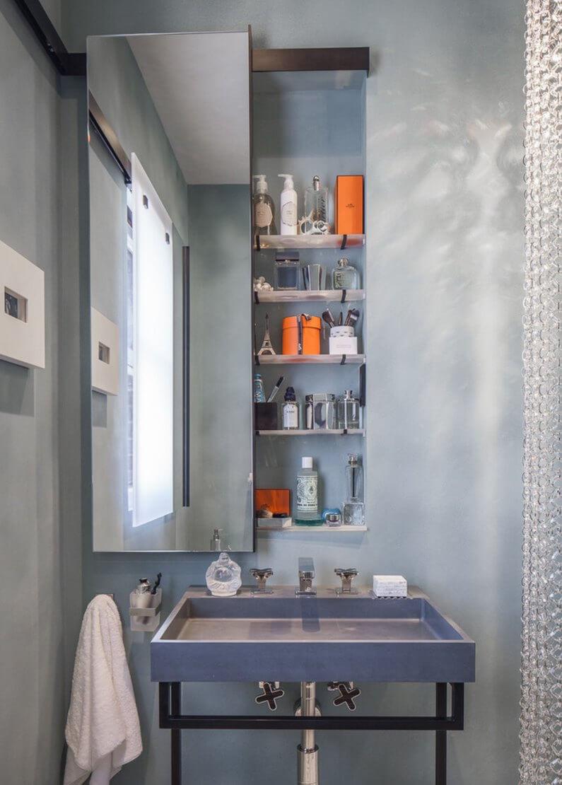 Smart badrumsskåp för badrum