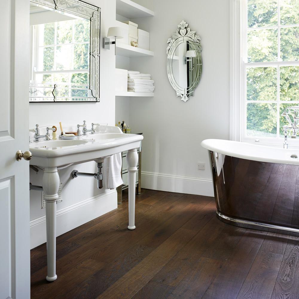 Traditionellt badrumsgolv