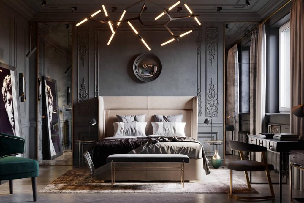 Fantastiskt vintage sovrum