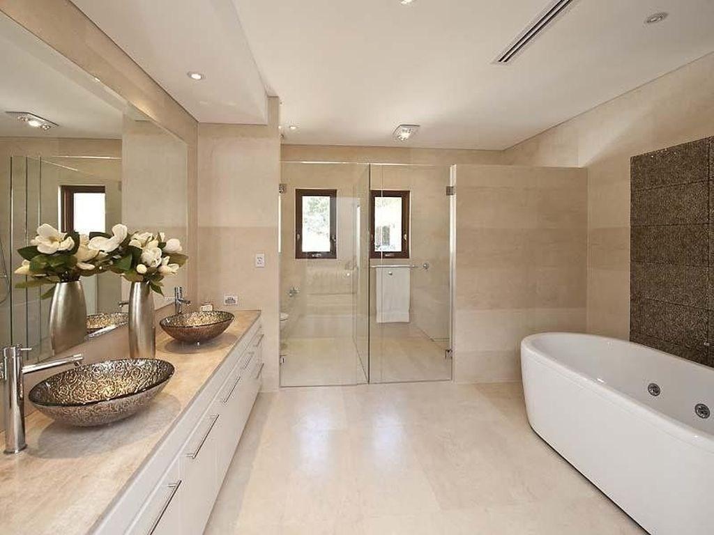 Modernt spa-badrum