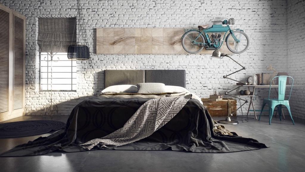 Gammalt industriellt stort sovrum