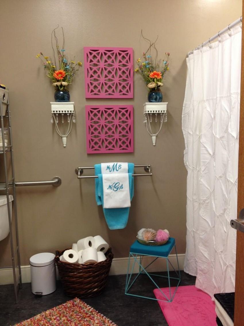 Enkel förvaring av badhanddukar