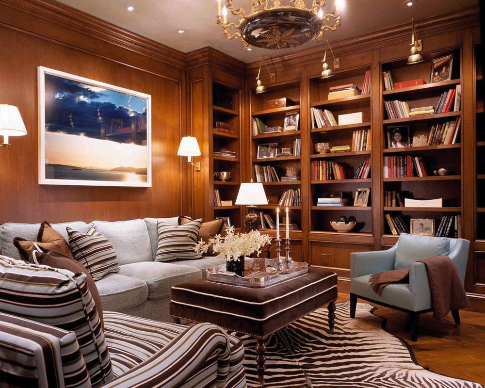 Imponerande-hem-bibliotek-design-idéer-för-2017 - 15 imponerande hembibliotek design-idéer för 2018