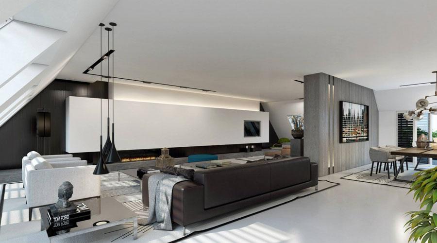 1 Imponerande visualisering av en elegant lägenhetsinredning av Ando Studio