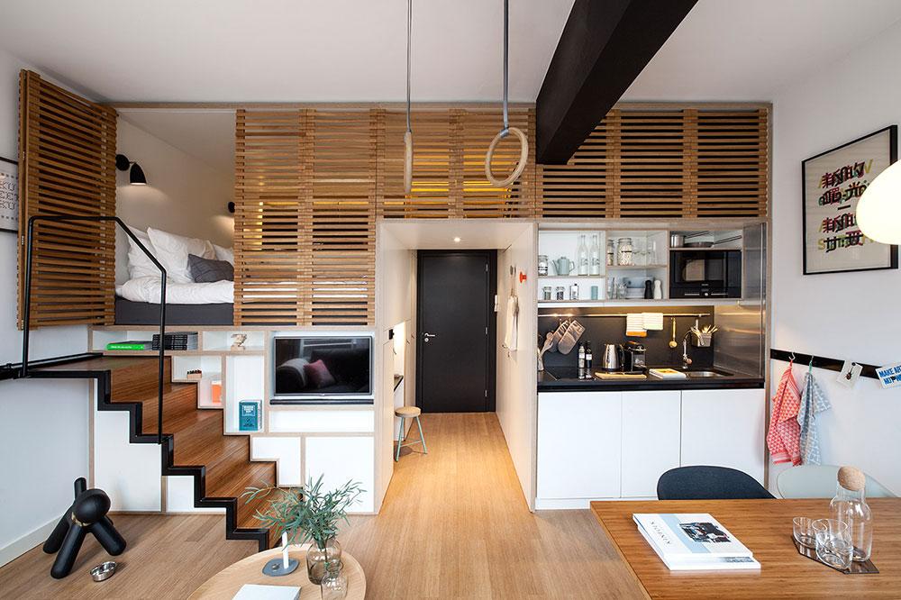 Träpanellösningar för inredning av lägenheter för din lilla lägenhet