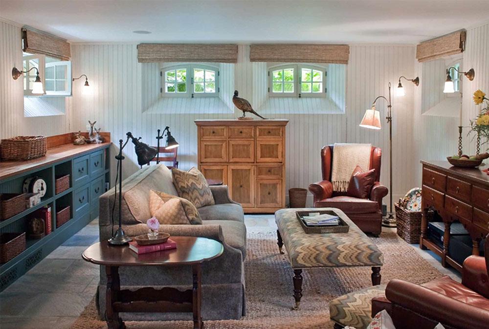 Familjerum-av-Giambastiani-Design källarfönster: byta ut och dekorera