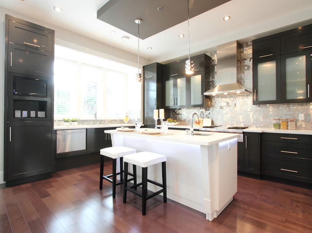Kök med svarta skåp-kan-fortfarande-vara-ljus14 Kök med svarta skåp - bilder och idéer