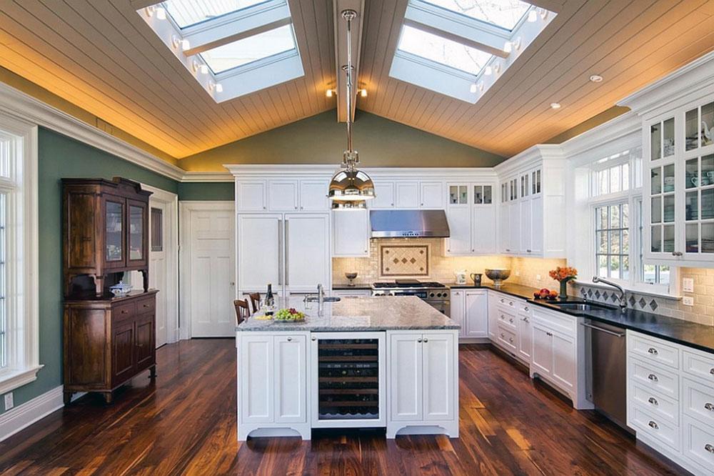 Kök med takfönster-för-mer-naturligt-ljus-1 Kök med takfönster för mer naturligt ljus
