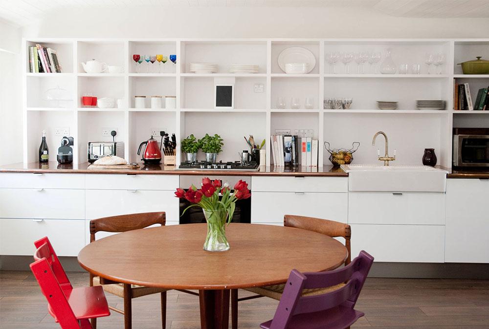 Riverside-Home-by-Tipfords kökshyllor: Idéer för flytande, utdragbara, väggmonterade hyllor