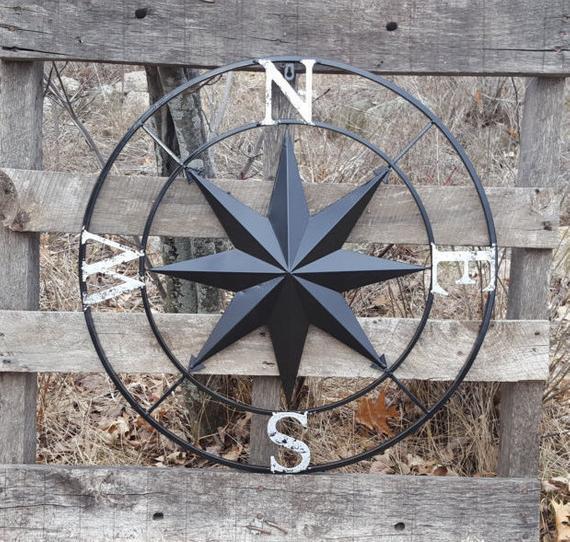 Kompass väggdekor