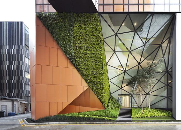 73304249453 Kontorsbyggnad med modern arkitektur som du vill arbeta i