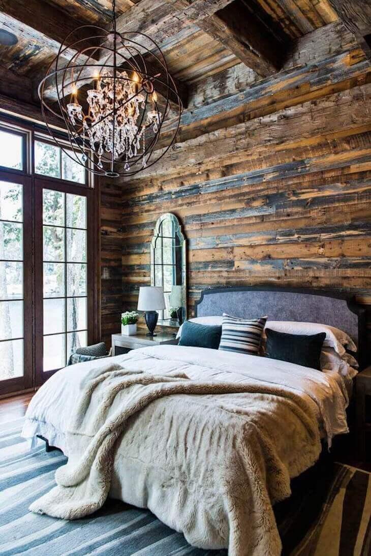 Fantastiskt rustikt sovrum