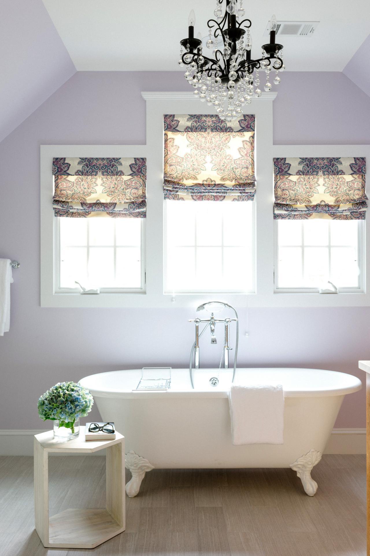 Vintage lavendel badrum