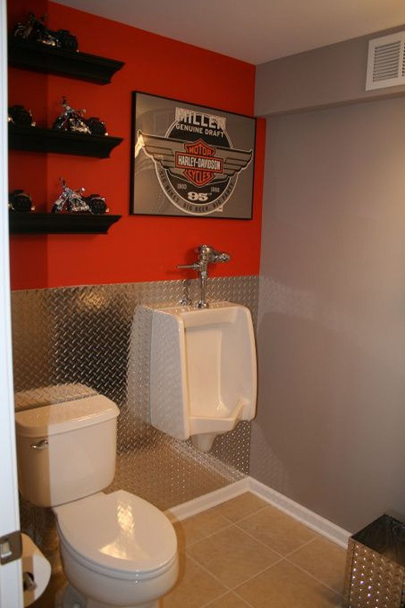 Motorcykel garage badrum