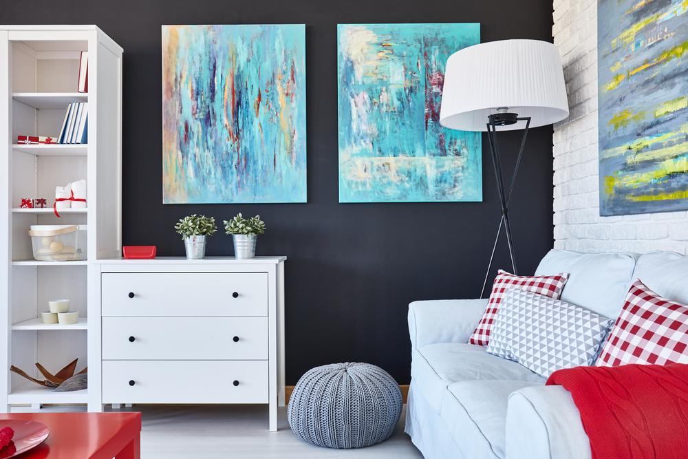 Fantastiskt minimalistiskt vardagsrum